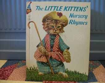 1959 Little Kittens' Nursery Rhymes  by Rand McNally Photo Kittens