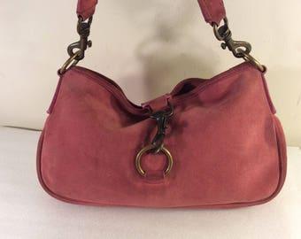 Vintage miu miu pink suede bag