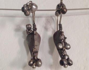 SALE15% Rajasthan old tribal silver earrings, Ognia earrings, Indian tribal earrings, Indian jewelry