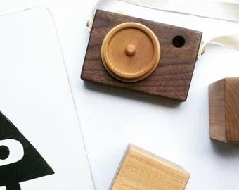 Walnut Wooden Toy Camera