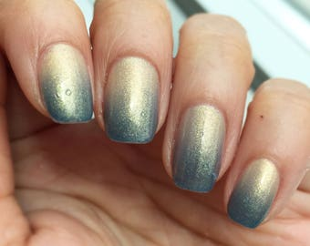 Throwing Shade by CANVAS lacquer - a thermal beige to blue