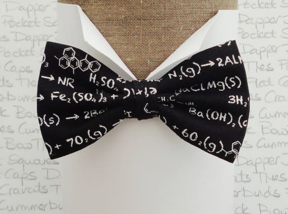 Bow ties for men, chemical calculations bow tie