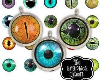 80 % off Graphics SaLe Animal Eyes Digital Eyes  30 mm Circle Digital Download Circles Printable Images Digital Collage Sheet  Jewelry makin