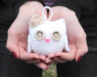 Bag charm, bag charm, door key hanger, Pocket toy, amigurumi owl, OWL crochet