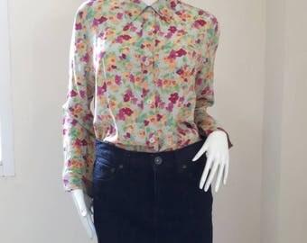 Vintage Longchamp blouse size  L
