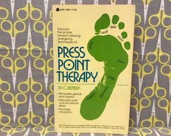 Press Point Therapy by G Bendix paperback book vintage healthcare