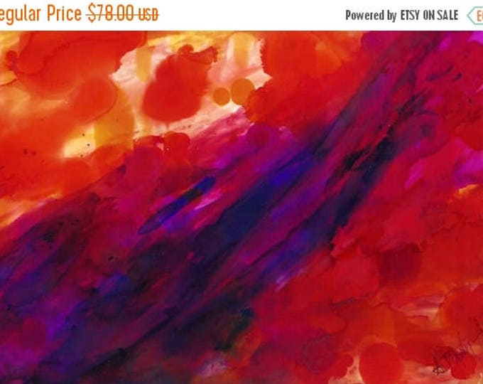 SALE Wall Art Original Painting-Semi-Abstract Flow-Original Watercolor Painting-Gift