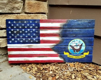 Wooden American Flag Wall Hanging wooden military flag | etsy
