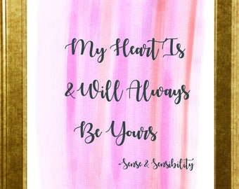 My Heart/Sense and Sensibility