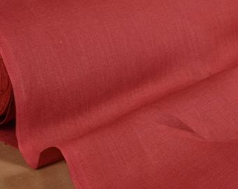 """Burgundy linen"" fabric 100% linen 160cm in width"