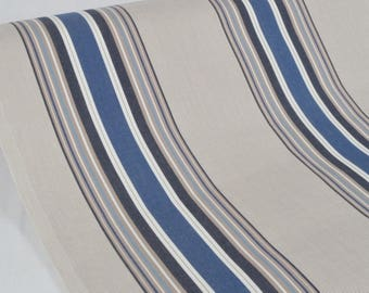 "Exterior fabric 100% Dralon ""Le Croisic Bleu"" sold in multiples of 10cm by 160cm"