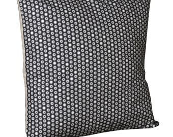 """Removable fabric 40x40cm """"Black Tipik"""" square cushion with inner."""