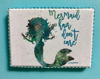 Mermaid Hair mini canvas picture
