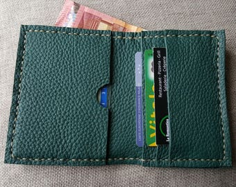 Pine Green color leather wallet