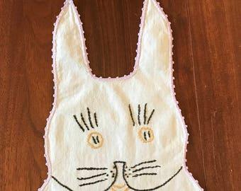 Vintage Handmade Bunny Bib