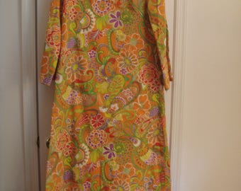 vintage DORIAN by LOWELL JUDSON long asian inspired dress
