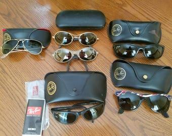 Lot of 6 Ray Ban Sunglasses Predator W2175, Balorama, Orbs, Wayfarer, Aviator