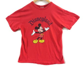 VTG 90s Mickey Mouse T-Shirt - Medium - Disneyland - Mickey Inc. - Disney Tee - 90s Clothing - Vintage Tee - Vintage Clothing -