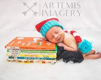 Crochet Newborn Dr. Susse stocking cap
