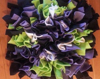 Snuffle Mat Black Purple Lime 12 in. x 12 in. READY TO SHIP