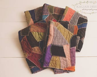 Vintage Layer, Vintage Quilt Layer, Fall, Vibrant, Photography Prop