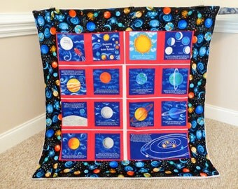 Space Baby Toddler Quilt, Space Quilt, Space Bedding, Outer Space Blanket Quilt, Space Blanket, Solar System Quilt, Baby Solar System Quilt