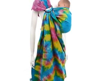 Ring Sling - Daiesu Sandbox Dyed 13 - Woven Baby Wrap - Ring Sling Baby Carrier