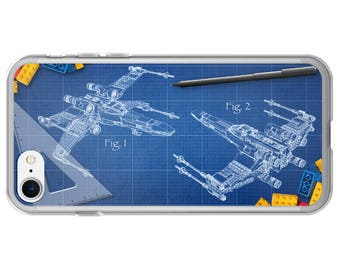 Blueprint iPhone Case - Sci Fi Phone Cover for iPhone 7, 7 Plus, 6, 6s, 6 Plus, 6s Plus, 5, 5s and SE iPhones