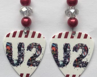 U2- Guitar Pick Earrings