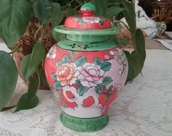 Small Vintage Japanese Ginger Jar