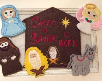 Finger Puppet Nativity 6 Piece Set With Case