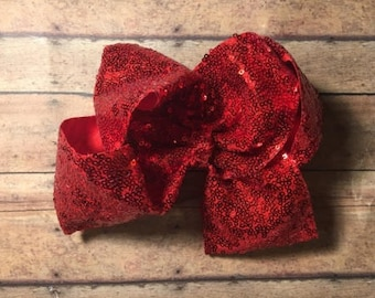 Large 8 inch sequins bow