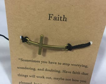 Faith Cross Wish Bracelet.