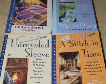 4 Monica Ferris books / Free shipping