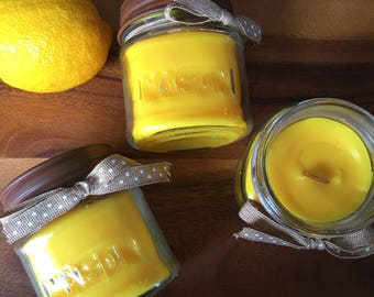 Lemon Biscotti Candle 10 oz Natural Soy Wax Candle Cotton Wick Candle Vegan Candle Holiday Candle