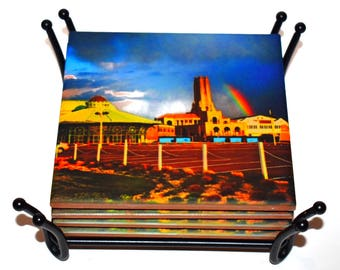 Asbury Park Casino Rainbow Coaster / New Jersey Ceramic Tile Drink Coaster(s) / Asbury Park Beach Coasters / Sold in Sets or Individually