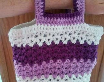 Crocheted arm bag
