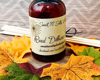 Autumn Magic Reed Diffuser Oil Refill With Reeds/More Fall Scents to Choose From!!