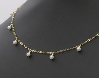 Pearl Necklace, Pearl Jewelry, Pearl Choker, Birthstone Necklace, Bridesmaid Gift, Dainty Necklace, Minimalist Necklace, Minimalist Jewelry