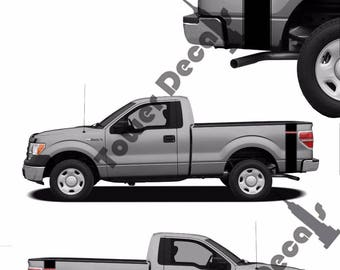 Truck Bed Stripes Etsy - Truck bed decals custom