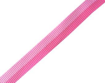 Two-tone fancy dark pink ribbon