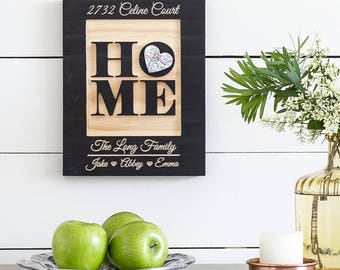 Our New Home Sign, New Home Housewarming gift, New Home Gift, Sign for Home, Entry Wall Art, Entryway Art, Family Name Sign, 9x11