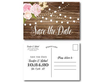 PRINTABLE Save the Date Postcard, Printable Save the Date, Wedding Save the Date, Save-the-Date, Wedding Postcard, Save our Date #CL102