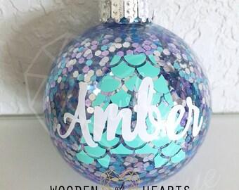 Mermaid, Mermaid Christmas Ornament, Personalized, Christmas Ornament, Personalized Ornament, Mermaid Ornament, Handmade, Purple, Teal,