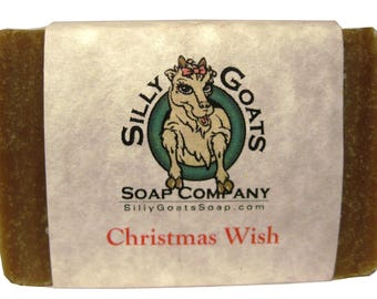 Christmas Wish Goat Milk Soap, Christmas Wish Soap, Christmas Soap