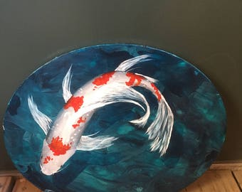 Scratching the Surface - Koi fish painting