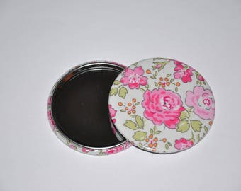 Mirror 59 mm fabric liberty of London Felicite pink 10