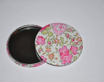 Mirror 59 mm fabric liberty of London Felicite pink 5