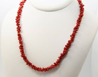 Necklace with red coral from Corsica 1st choice CC 48
