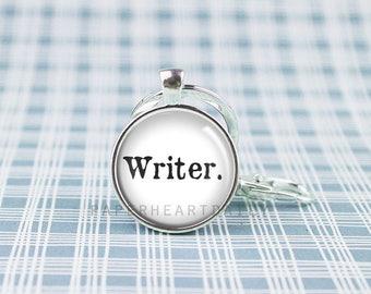 Writer Key Chain - Gift for Writer - Storyteller Gift - Writer Gift - Writer Keychain -   (F5804)